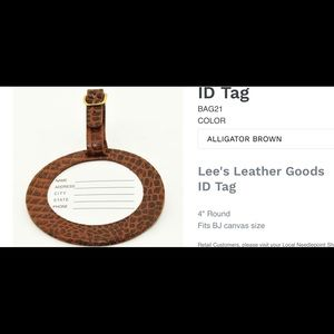 NWT Lee's luggage tag brown travel